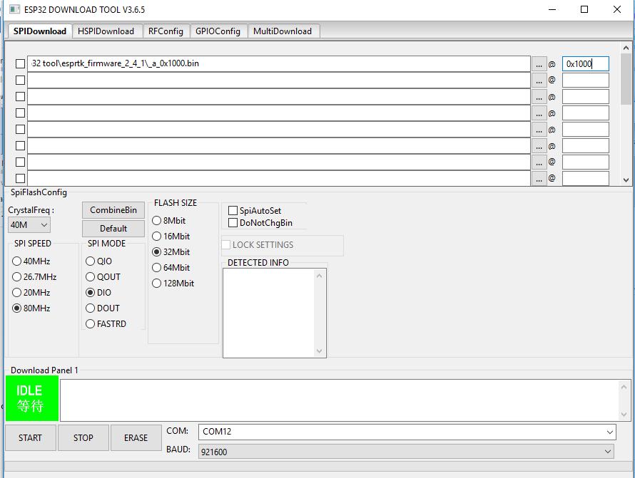 Tutorial - Flash  bin file to ESP32 using