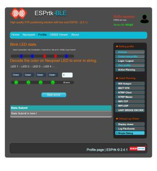 Tutorial - Web Configure : Simple debug - ESPrtk -ESP32 RTK