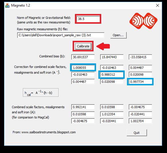 Tutorial - Web Configure : MPU9250 - Calibrate magnetometer