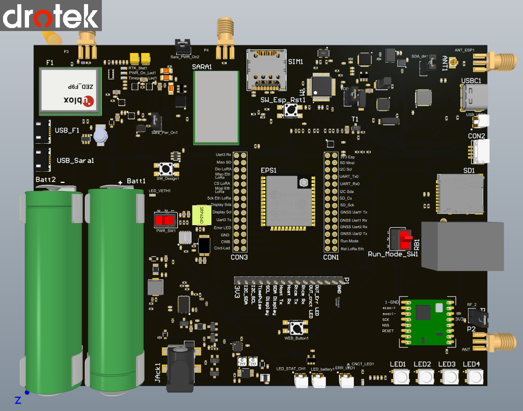 Image (), Link https://esprtk.files.wordpress.com/2021/03/topview-drotek-esprtk-dev-board-f9p-gnss-rtk-ethernet-sd-card-lora-3g-4g-imu-sensor-battery-.png:- Copy right ESPrtk